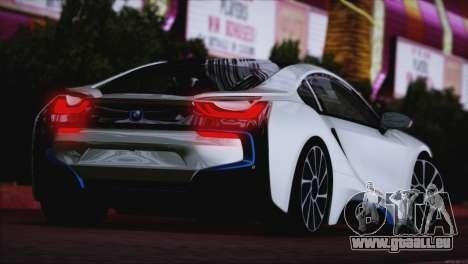 BMW i8 Coupe 2015 pour GTA San Andreas sur la vue arrière gauche