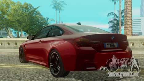 BMW M4 Coupe 2015 für GTA San Andreas linke Ansicht