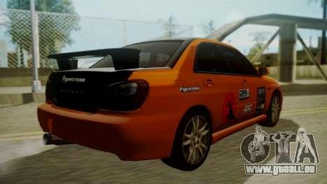 Subaru Impreza WRX GDA für GTA San Andreas Innen