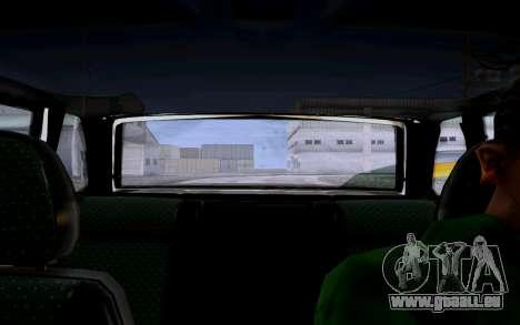 2114 Turbo für GTA San Andreas Innenansicht