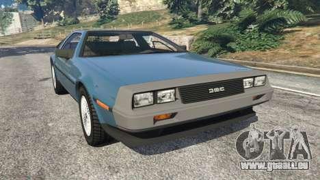 DeLorean DMC-12 v1.2 pour GTA 5