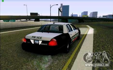 Weathersfield Police Crown Victoria für GTA San Andreas rechten Ansicht