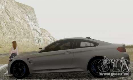 BMW M4 F82 pour GTA San Andreas laissé vue