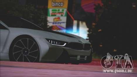 BMW i8 Coupe 2015 für GTA San Andreas Unteransicht