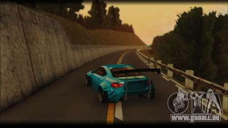 Toyota GT86 Customs Rocket Bunny für GTA San Andreas zurück linke Ansicht