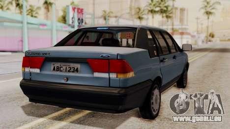Ford Versailles GL 2.0i 1992-1993 pour GTA San Andreas laissé vue
