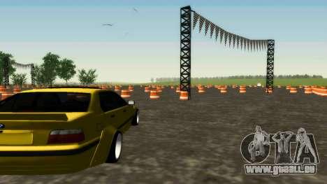 BMW 320i E36 Wide Body Kit pour GTA San Andreas vue de droite