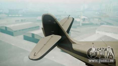 Grumman G-21 Goose Black and White pour GTA San Andreas sur la vue arrière gauche