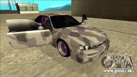 Nissan Silvia S14 Army Drift für GTA San Andreas Seitenansicht