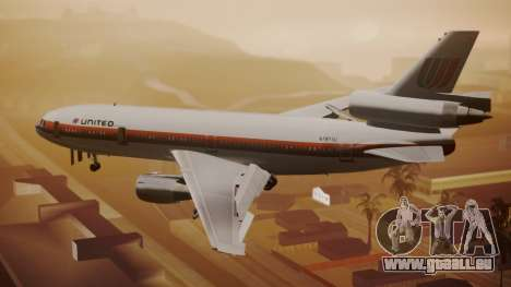 DC-10-10 United Airlines (80s Livery) für GTA San Andreas linke Ansicht
