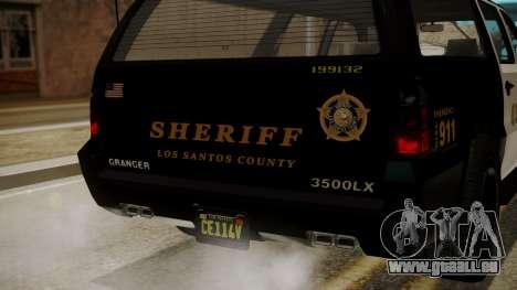 GTA 5 Declasse Granger Sheriff SUV IVF pour GTA San Andreas vue de côté