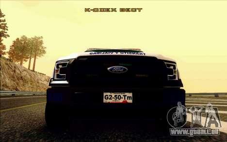 Ford F150 2015 Towtruck für GTA San Andreas Innenansicht