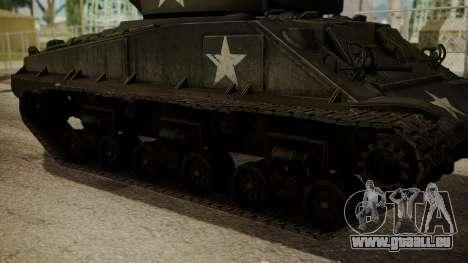 M4A3(76)W HVSS Sherman pour GTA San Andreas sur la vue arrière gauche