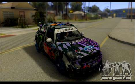 Mini Cooper Gymkhana 6 with Drift Handling pour GTA San Andreas sur la vue arrière gauche