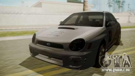 Subaru Impreza WRX GDA pour GTA San Andreas vue intérieure