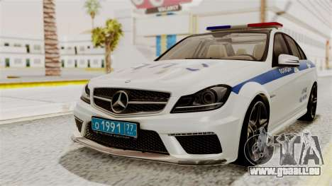 Mercedes-Benz C63 AMG STSI le Ministère de l'int pour GTA San Andreas