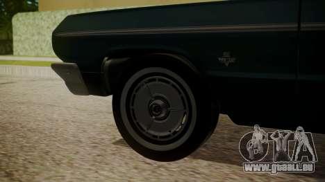 Chevrolet Impala SS 1964 Low Rider für GTA San Andreas zurück linke Ansicht