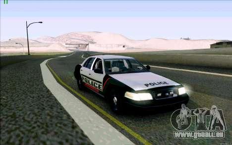Weathersfield Police Crown Victoria für GTA San Andreas linke Ansicht