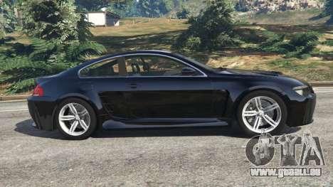 GTA 5 BMW M6 (E63) WideBody v0.1 linke Seitenansicht
