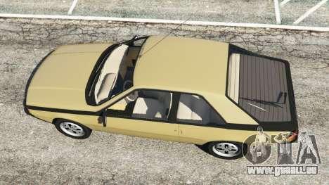 Renault Fuego 1980 pour GTA 5
