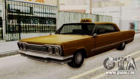 Taxi-Savanna v2 pour GTA San Andreas sur la vue arrière gauche