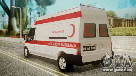 Ford Transit Jumbo Ambulance pour GTA San Andreas laissé vue