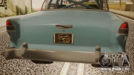 Chevrolet Bel Air Gasser pour GTA San Andreas vue arrière