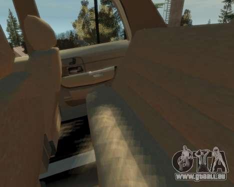 2003 Ford Crown Victoria pour GTA 4 est une vue de l'intérieur