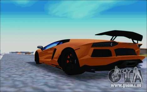 Lamborghini Aventador MV.1 [IVF] für GTA San Andreas zurück linke Ansicht