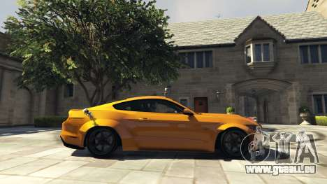 GTA 5 Ford Mustang GT RocketB & Wide Body vue latérale gauche