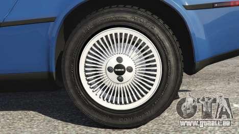 GTA 5 DeLorean DMC-12 v1.1 arrière droit vue de côté