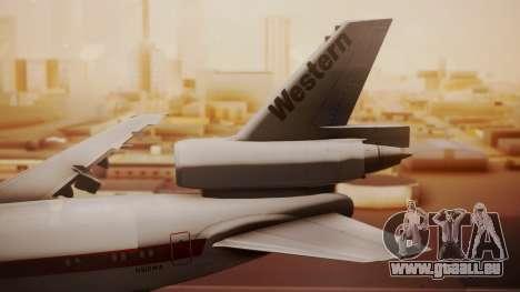 DC-10-10 Western Airlines für GTA San Andreas zurück linke Ansicht