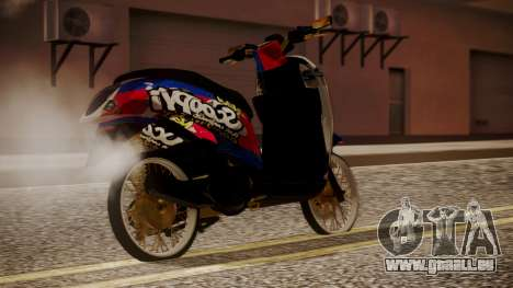 Honda Scoopy New Red and Blue pour GTA San Andreas laissé vue