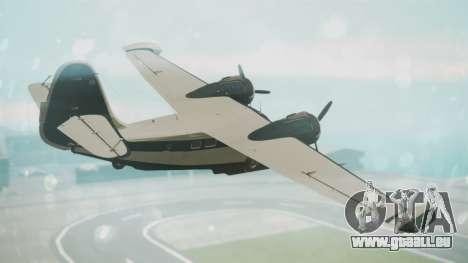 Grumman G-21 Goose Black and White pour GTA San Andreas laissé vue