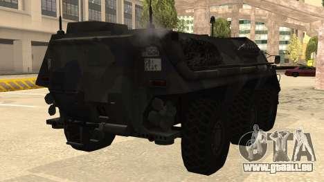 TPz 1 Fuchs Hummel für GTA San Andreas rechten Ansicht