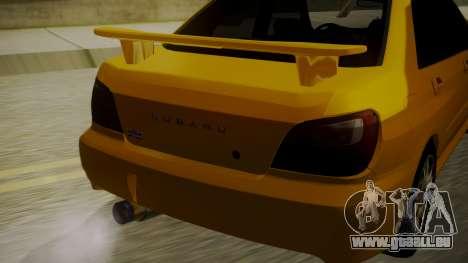 Subaru Impreza WRX GDA für GTA San Andreas Rückansicht