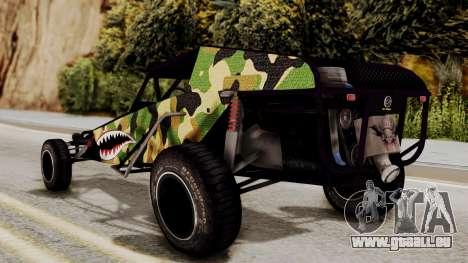 Buggy Camo Shark Mouth pour GTA San Andreas laissé vue