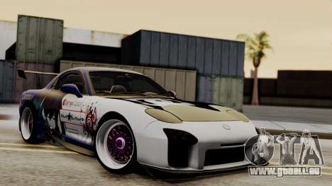 Mazda RX-7 Black Rock Shooter Itasha pour GTA San Andreas vue intérieure