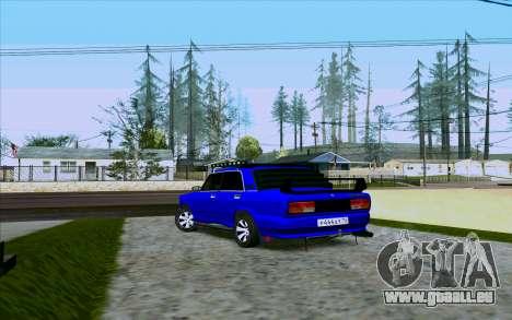 VAZ 2107 Tuning pour GTA San Andreas sur la vue arrière gauche