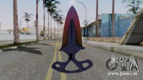 Shadow Dagger Gradient pour GTA San Andreas deuxième écran