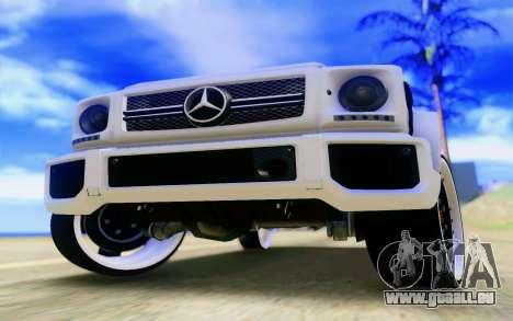 Mercedes-Benz G65 AMG pour GTA San Andreas moteur