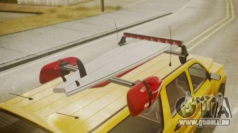 GTA 5 Declasse Granger Lifeguard für GTA San Andreas rechten Ansicht