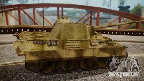 Panzerkampfwagen V Ausf. A Panther pour GTA San Andreas sur la vue arrière gauche