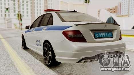 Mercedes-Benz C63 AMG STSI le Ministère de l'int pour GTA San Andreas laissé vue