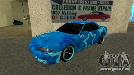 Nissan Skyline R32 Drift Blue Star pour GTA San Andreas