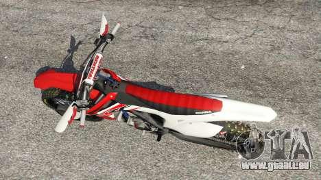 GTA 5 Honda CRF450 2015 Rückansicht