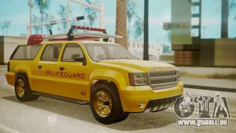 GTA 5 Declasse Granger Lifeguard für GTA San Andreas