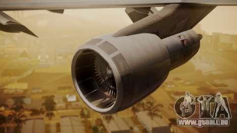 Boeing 747-200 Fly US für GTA San Andreas rechten Ansicht