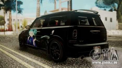 Mini Cooper Clubman 2011 Hatsune Miku Itasha für GTA San Andreas linke Ansicht
