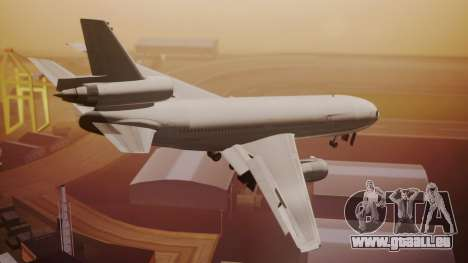 DC-10-30 All-White Livery (Paintkit) für GTA San Andreas linke Ansicht